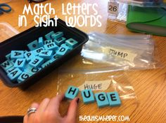 Match Letter to Letter Work Tasks by theautismhelper.com