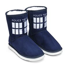 TARDIS Boot Slippers - Size 6
