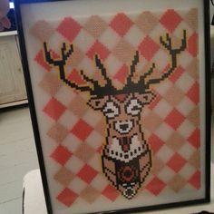 Deer hama perler art by krea.nadia