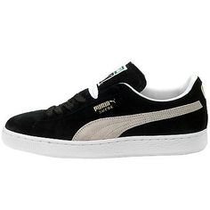 2ccf1e51ac98 Puma Suede Classic+ Mens 352634-03 Black White Athletic Shoes Sneakers Size  13