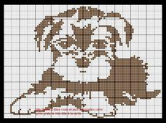 Wire Haired Puppy Cross Stitch Pattern in One Color Filet Crochet Charts, Cross Stitch Charts, Cross Stitch Designs, Cross Stitch Patterns, Cross Stitching, Cross Stitch Embroidery, Embroidery Patterns, Pixel Pattern, Dog Pattern