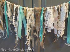 Vintage Wedding Lace Garland by HeatherVintage88 on Etsy, $30.00