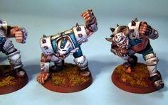 Blood Bowl Ogre Team - Ogres Close Up by Styfen