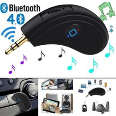 3.5mm AUX Car Bluetooth Receiver Speaker Music Streaming Audio Adapter With Mic #UnbrandedGeneric