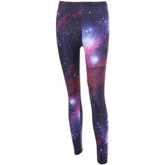 3D Galaxy Print High Waist Leggings ($15) ❤ liked on Polyvore featuring pants, leggings, high-waisted trousers, galaxy pants, nebula print leggings, high rise trousers and galactic leggings