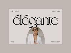 élégante home hero slider by Clay Boan Web Design Trends, Design Websites, Site Web Design, Modern Web Design, Fashion Website Design, Minimalist Web Design, Beautiful Web Design, Minimal Graphic Design, Web Banner Design