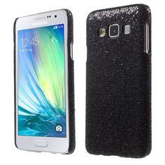 Mesh - Samsung Galaxy A3 Hoesje - Back Case Hard Glitter Zwart | Shop4Hoesjes