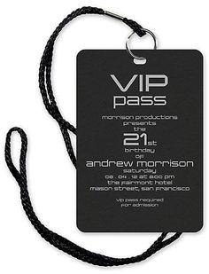 VIP PASS!