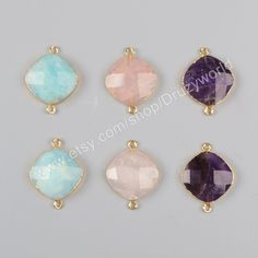 Wholesale Making Jewelry Gold Plated Diamond Shape Multi-Kind Faceted Stones…