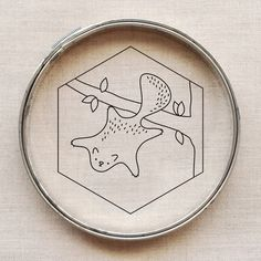 flying squirrel embroidery pattern // wild olive