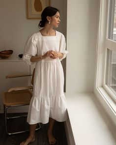 White Maxi Dresses, Elegant Dresses, African Fashion Dresses, Fashion Outfits, Oak And Fort, Looks Street Style, Moda Vintage, Mode Inspiration, Minimal Fashion