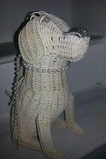 Cappelli wicker dog   purse rare  vintage figural wicker animal   handbag