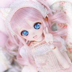 Anime Dolls, Bjd Dolls, Anime Chibi, Kawaii Anime, Kawaii Doll, Pink Doll, Anime Figurines, Smart Doll, Doll Repaint