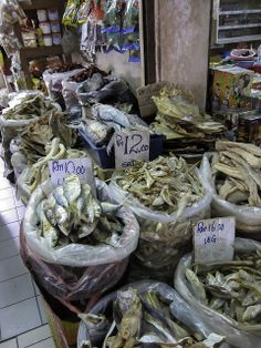 Getrockneter Fisch - Bidayuh-Markt in Serian - Sarawak, Borneo / Malaysia