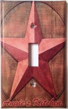 Personalized Primitive Country Barn Star Light Switch Plate Cover on Etsy, $6.25
