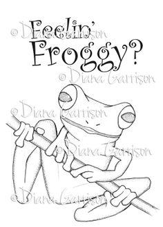 Feelin' Froggy Digi Digital Stamp