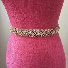 A personal favorite from my Etsy shop https://www.etsy.com/listing/259747287/full-length-rose-gold-rhinestone-bridal