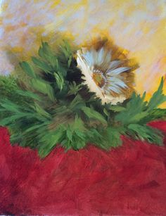 Gerber Daisy oil painting by Joyce Adair
