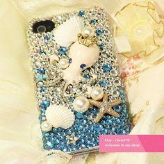 New Summer Kawaii Octopus Shell DIY Phone Case Deco Den by chen370, $7.59
