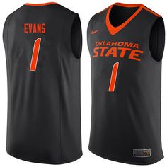 8334e005084a Men  1 Jawun Evans Oklahoma State Cowboys College Basketball Jerseys-Black