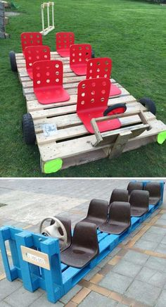 25 Beautiful Outdoor Kids Projects With Recycled Pallets Home Design And Interior is part of Outdoor kids Kids are always happy to play and when they get bored inside the house, the outdoor play s - Kids Outdoor Play, Outdoor Play Spaces, Kids Play Area, Outdoor Learning, Backyard For Kids, Outdoor Fun, Natural Playground, Backyard Playground, Playground Ideas