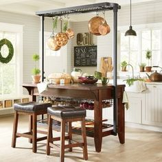 Get inspired by Rustic Kitchen Design photo by Wayfair. Wayfair lets you find the designer products in the photo and get ideas from thousands of other Rustic Kitchen Design photos. Kitchen Island Cart, Rustic Kitchen Island, Rustic Kitchen Cabinets, Rustic Kitchen Design, Kitchen Decor, Kitchen Islands, Kitchen Ideas, Wooden Kitchen, Kitchen Storage