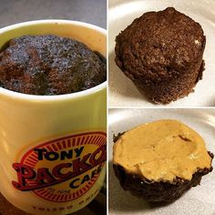 """Flaxseed muffin-in-a-mug, 90 seconds in the microwave, topped with powdered peanut butter, very #lowcarb #diabetic friendly"" Photo taken by @thefirehousegourmet on Instagram, pinned via the InstaPin iOS App! http://www.instapinapp.com (11/06/2015)"
