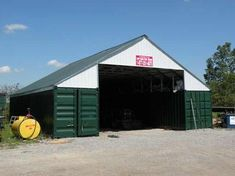 Shipping container workshop | Garage & Workshop | Pinterest | Ships, Barn and Container buildings