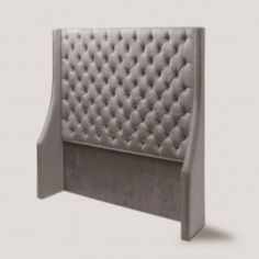Tribecca Grey Velvet Upholstered & Winged Side Headboard – Allissias Attic & Vintage French Style