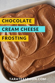 Easy Chocolate Cream Cheese Frosting is great for piping on to cupcakes, cookies, and cakes.