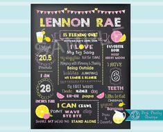 Birthday Chalkboard Sign Lemonade birthday by PoshPaisleyBoutique