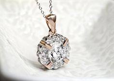 "Bella Luce Dillenium in 18k rose #gold over sterling #silver #pendant with 18"" #chain"