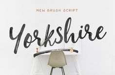 Yorkshire (Brush Script) by Hustle Supply Co. on Creative Market