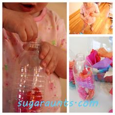 Fine Motor Play with Tissue Paper