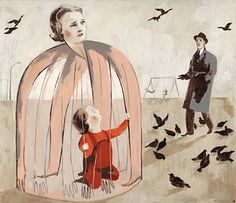 """Gaugin's Heart"""" book, isabelle arsenault Art And Illustration, Illustrations, Dark Art Drawings, Pop Surrealism, Art Forms, Painting & Drawing, Sketches, Artwork, Creative People"""