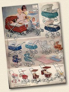 I remember the ones on the bottom left. Had the 2nd one myself. When I grew up I got a real sized older model German pram and loved it.