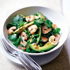 Prawn and avocado salad. A quick, simple, and very nutritious starter.