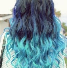 Cool Colored Hair Chalks - 6 Pack - Temporary Color Pastels, Shades of Blue and Teal. $20.00, via Etsy.