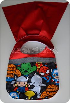 Super Heros, Handmade Baby, Baby Sewing, Baby Gifts, Lunch Box, Couture, Fabric, Projects, How To Make
