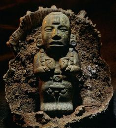 Kenneth Garrett: Copan, Honduras; Jade Figuring of the Maize God's Rebirth (ca. 541-542)