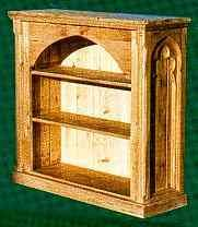 Gothic Gothique wooden pine low bookcase furniture