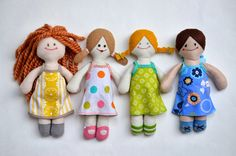 ikat bag: Fairytale Doll Dress Workshop and free template