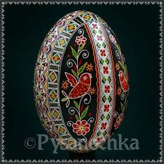 Real Ukrainian Pysanky. Goose Pysanka. Hand made Hutsul Easter Eggs