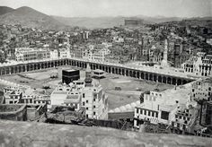 Genre/Subject Matter This image shows the Caaba and Sanctuary at Mecca from an elevated position due east of the Masjid al-Haram, or Grand Mosque. Parts of the northwest and southwest of the city of Mecca Masjid, Masjid Al Haram, Mecca Images, Louvre Abu Dhabi, Exposition Photo, Expansion, Mekkah, Les Religions, Beautiful Mosques