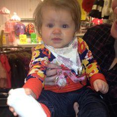 Cool baby dressed in Tiljamid