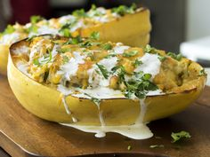 Green Chile Chicken- Stuffed Spaghetti Squash - Gonna lighten this up for WW!