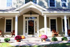 Farmers Porch Design, Pictures, Remodel, Decor and Ideas - page 2 I really like this door Family Room Addition, Porch Addition, House Front Porch, Porch Roof, Farmers Porch, Porch Kits, Porch Ideas, Building A Porch, Colonial Style Homes