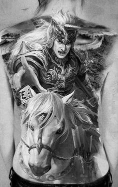 Triệu Tử Long tattoo design