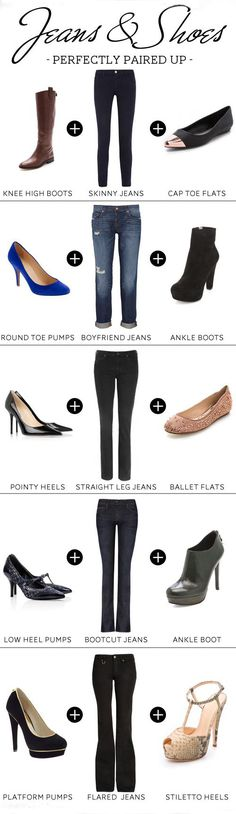 Jeans & Shoes Guide - Perfectly Paired Up
