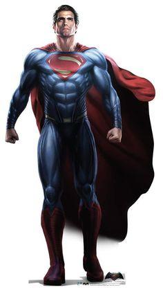 Superman - Batman V Superman: Dawn of Justice - Advanced Graphics Life Size Cardboard Standup Superman Party, Superman Superman, Batman Batcave, Superman Artwork, Superman Wallpaper, Superman Stuff, Life Size Cardboard Cutouts, Superman Dawn Of Justice, Dc Movies